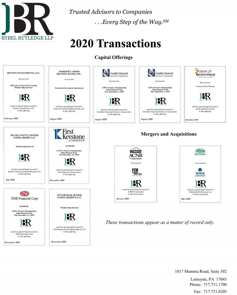 2020 Transactions | Bybel Rutledge